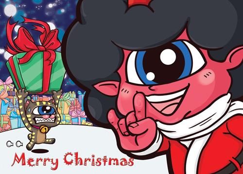 聖誕明信片as