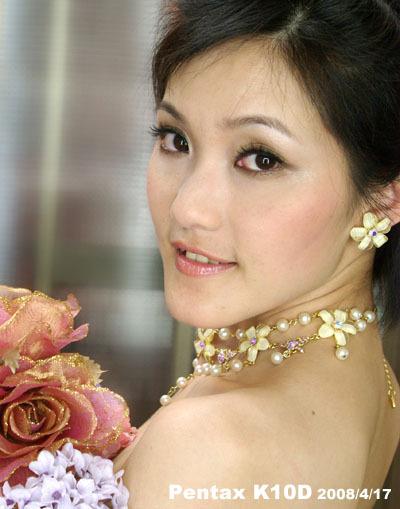 2008/4/17 練習化妝和 Pentax K10D