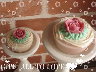 玫瑰蛋糕皂