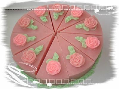 蛋糕手工皂~玫瑰