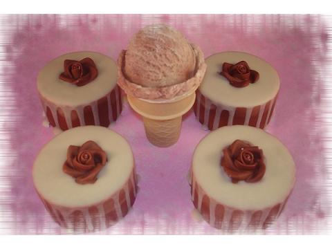 玫瑰珊瑚紅石泥母乳皂