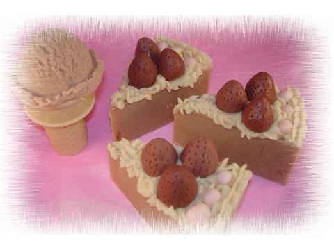 草莓蛋糕母乳皂