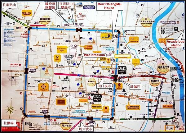 清邁 地圖