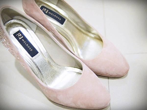 MELROSE 亮鑽粉色跟鞋 (5).JPG