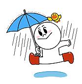 下雨也開心
