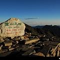 雪山主峰遙望大霸、聖稜線