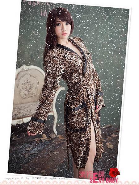 豹紋睡袍,性感睡袍 性感睡衣