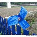 用廢棄的保特瓶製造的風車(正面)