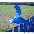 用廢棄的保特瓶製造的風車(背面)