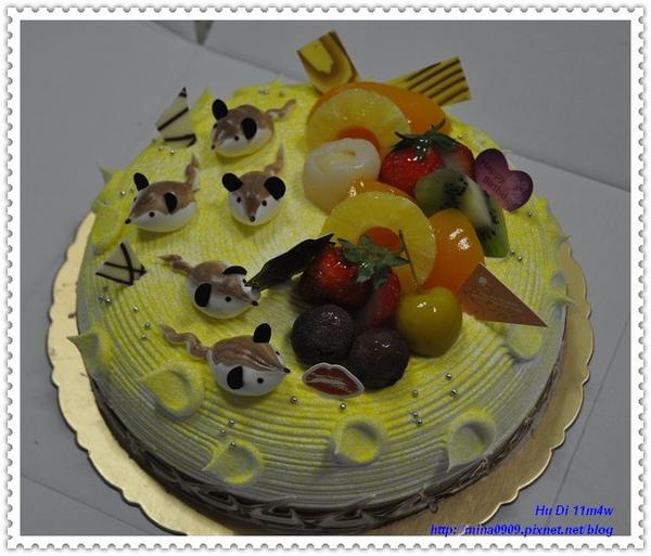 我的黃金鼠蛋糕