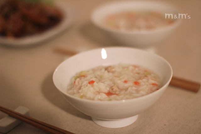 胡蘿蔔芹菜豬肉稀飯