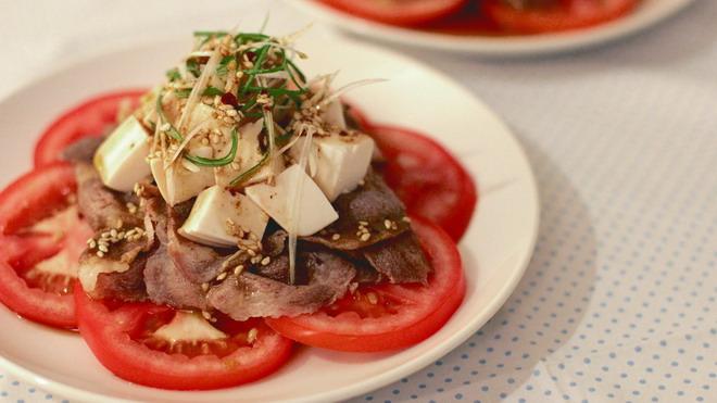 蕃茄肉豆腐沙拉