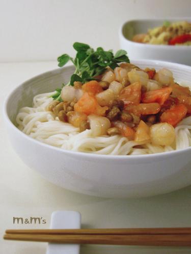 納豆冷麵線