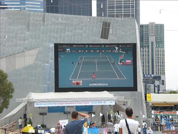 正好遇上澳網公開賽