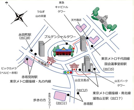 山王日枝神社地圖