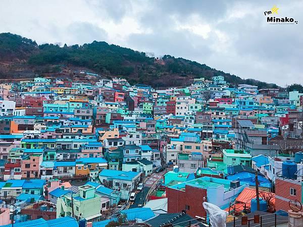釜山咖啡廳推薦:甘川洞Blue House