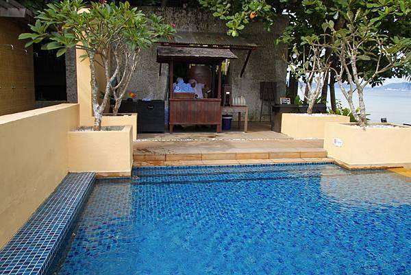 亞庇住宿:Gaya Island Resort 加雅島渡假村游泳池