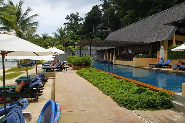沙巴住宿:Gaya Island Resort 加雅島渡假村游泳池