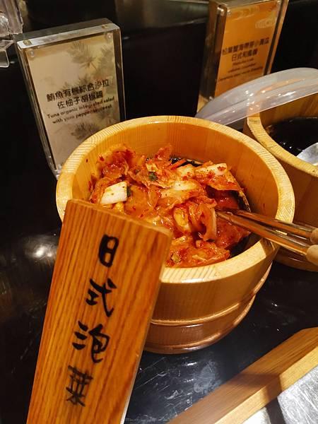 台北君悅酒店彩日本料理日式泡菜