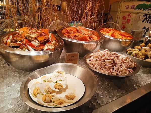 台北君悅酒店彩日本料理吃到飽螃蟹