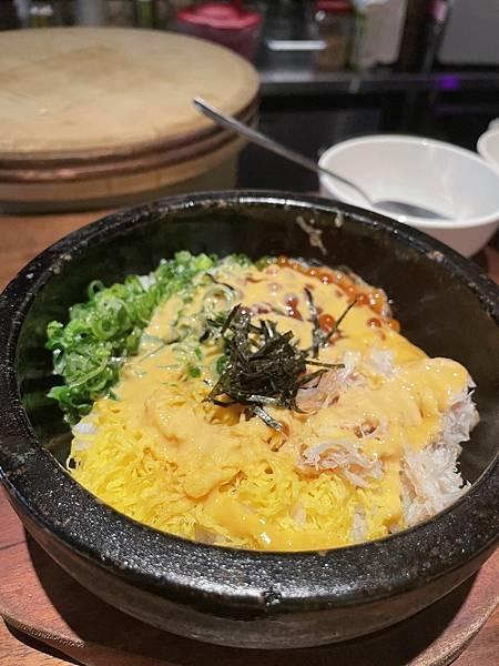 台北日式居酒屋推薦 新大阪 Parlou New Osaka 海膽鮭魚卵石鍋拌飯