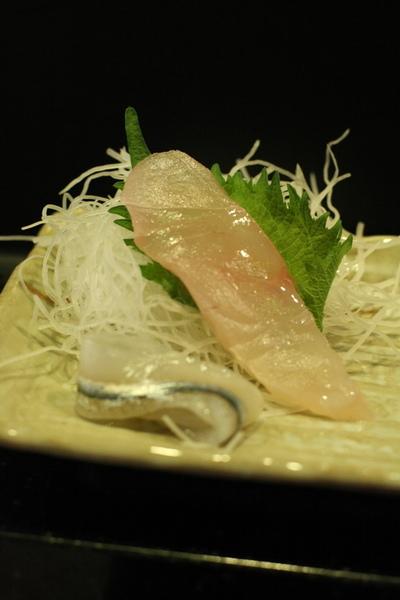 鯛魚生魚片+水針生魚片