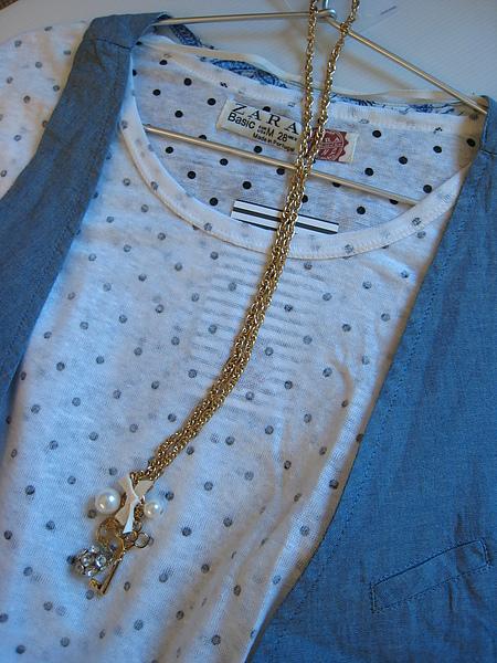 ZARA 水玉針織罩衫 0264 -2.JPG
