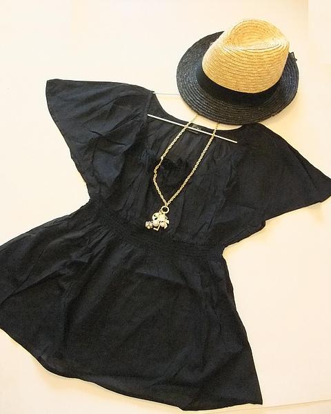 夏日滾黑邊米色紳士帽 297370.JPG