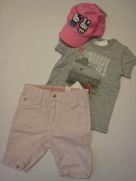 灰色花漾T恤 622060 & 粉紅五分褲 578640.JPG