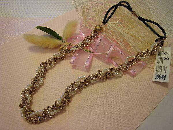 金色珍珠鍊髮圈 889580.JPG