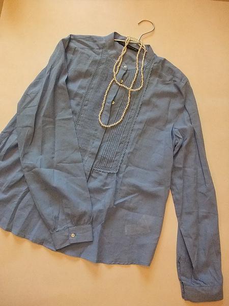 ZARA 單寧風立領襯衫 6009.JPG