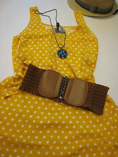 復古風水玉短洋裝 351520 -2.JPG