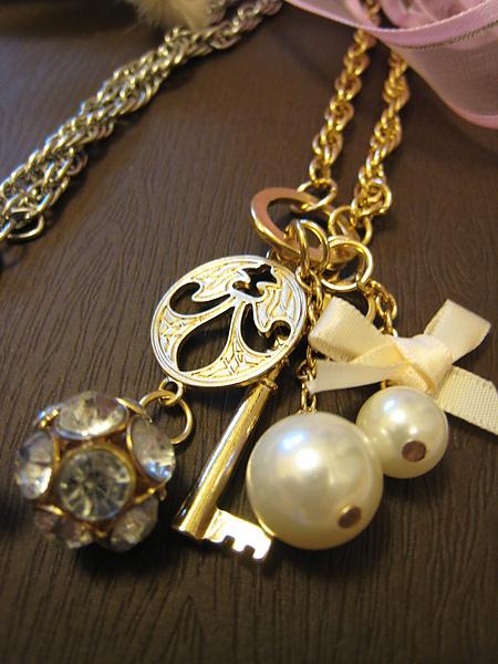 鑰匙珠珠水鑽長項鍊 845160 -2.JPG