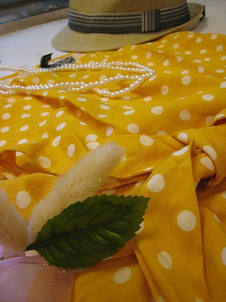 復古風水玉短洋裝 351520 -3.JPG