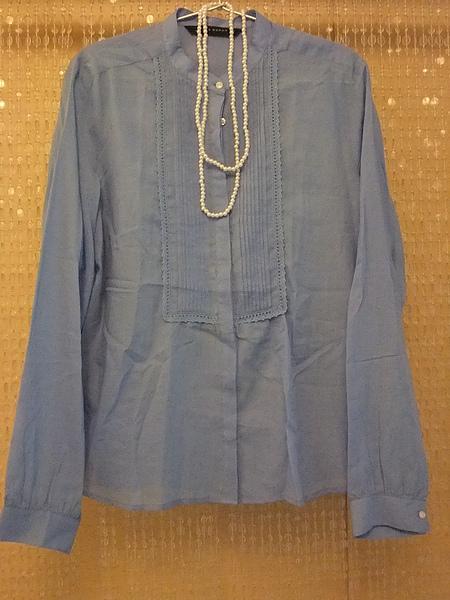 ZARA 單寧風立領襯衫 6009 -1.JPG