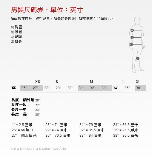 男裝尺碼表,單位:英寸.JPG