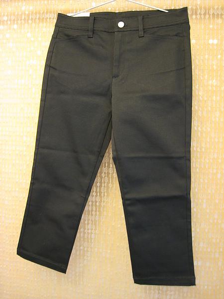 Uniqlo 黑格紋七分褲 71478-2.JPG