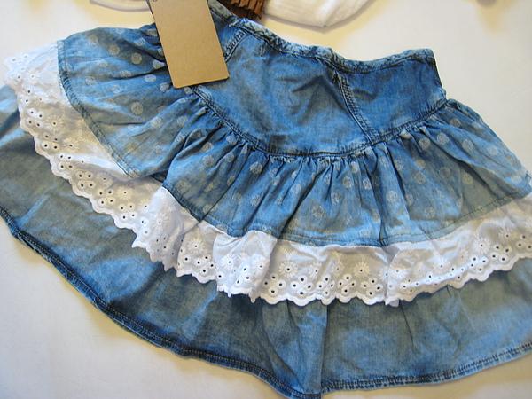ZARA 牛仔蛋糕短裙 5861-3.JPG