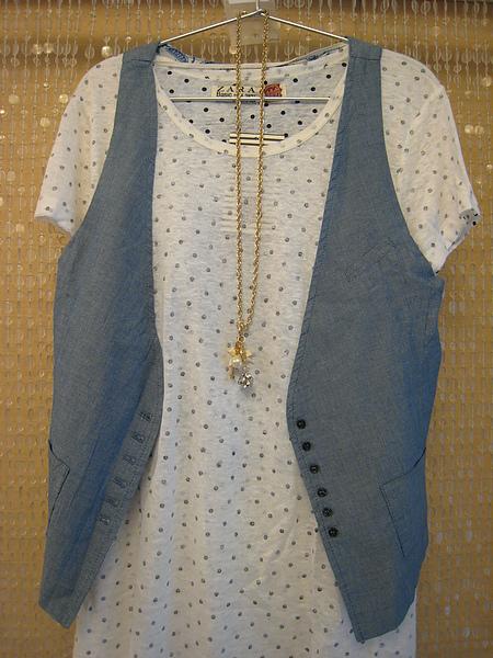 ZARA 水玉針織罩衫 0264.JPG