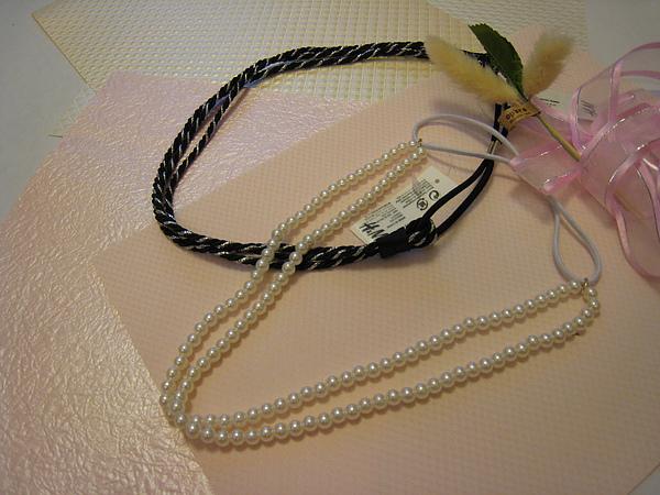 珍珠髮圈 889400 & 銀黑編織髮圈 960260.JPG