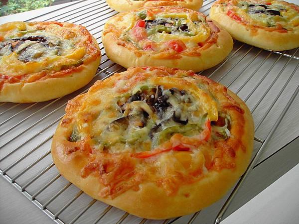 香菇彩椒披薩