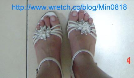 MAGY白色涼鞋