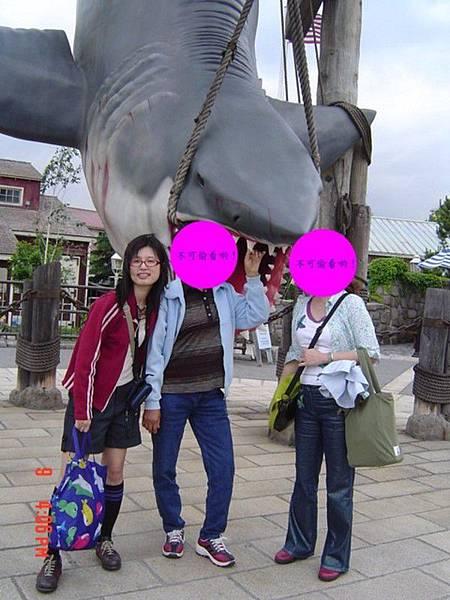 和大白鯊合照喲!