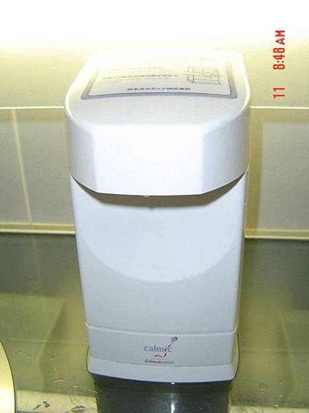 飯店廁所的自動給皂機