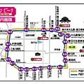 奈良市內循環巴士路線圖