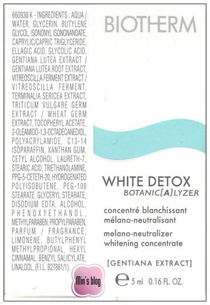 BIOTHERM--極淨白精華 成份表