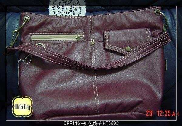 DSC01016 SPRING--紅色袋子 NT$990 20081218.JPG