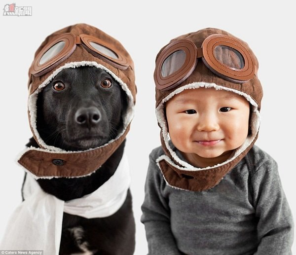 小狗和小孩