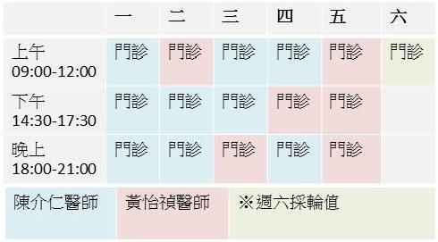 【門診時間】最新心悠活門診表及服務項目介紹(107年9月起適用)