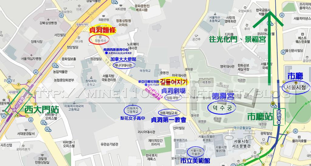 貞洞map